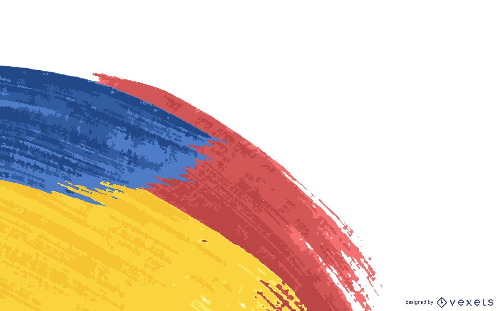 Fundo abstrato colorido pintado com amostras