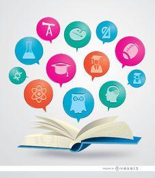 Buch akademische Symbole