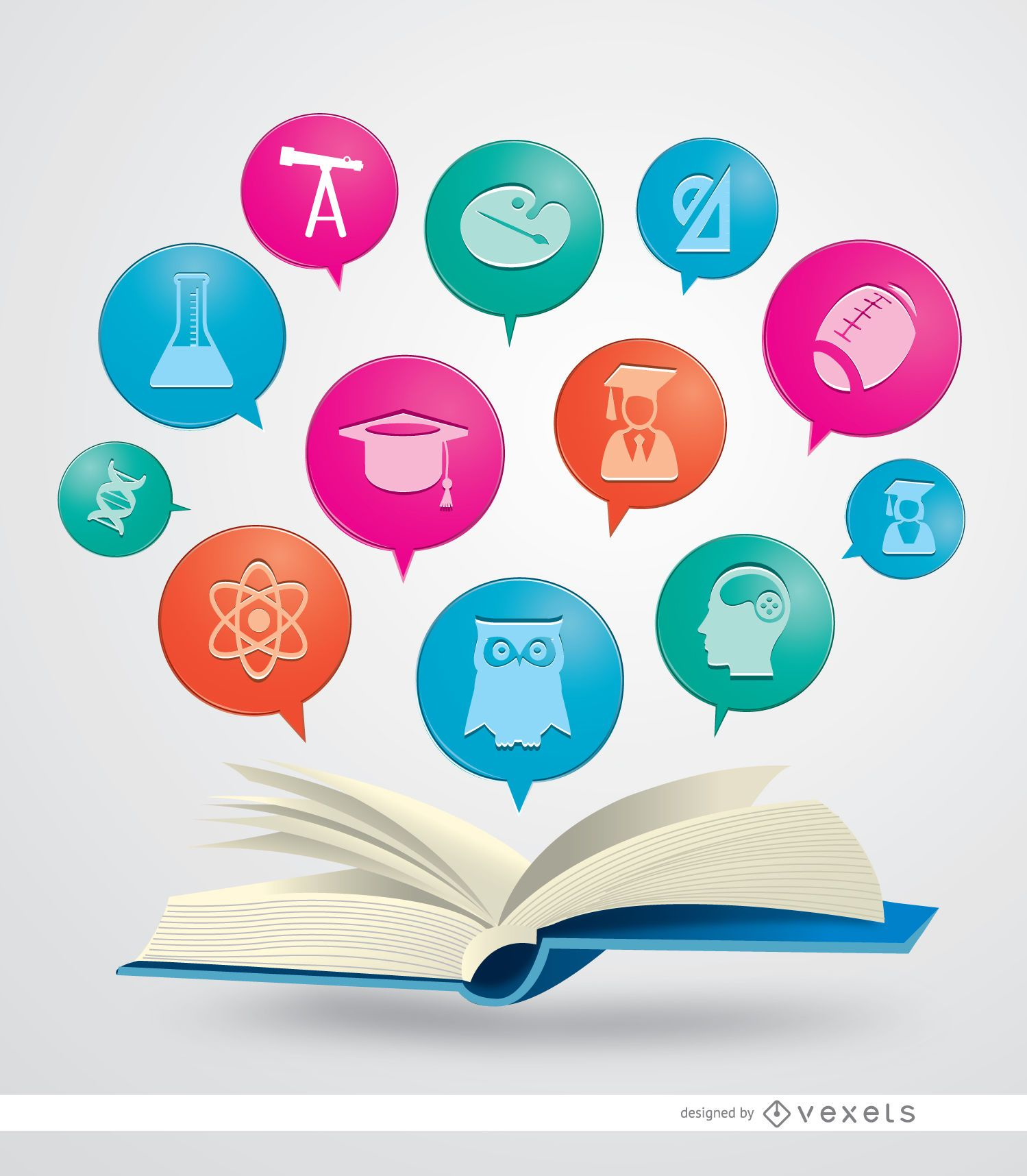 Ícones de livros acadêmicos