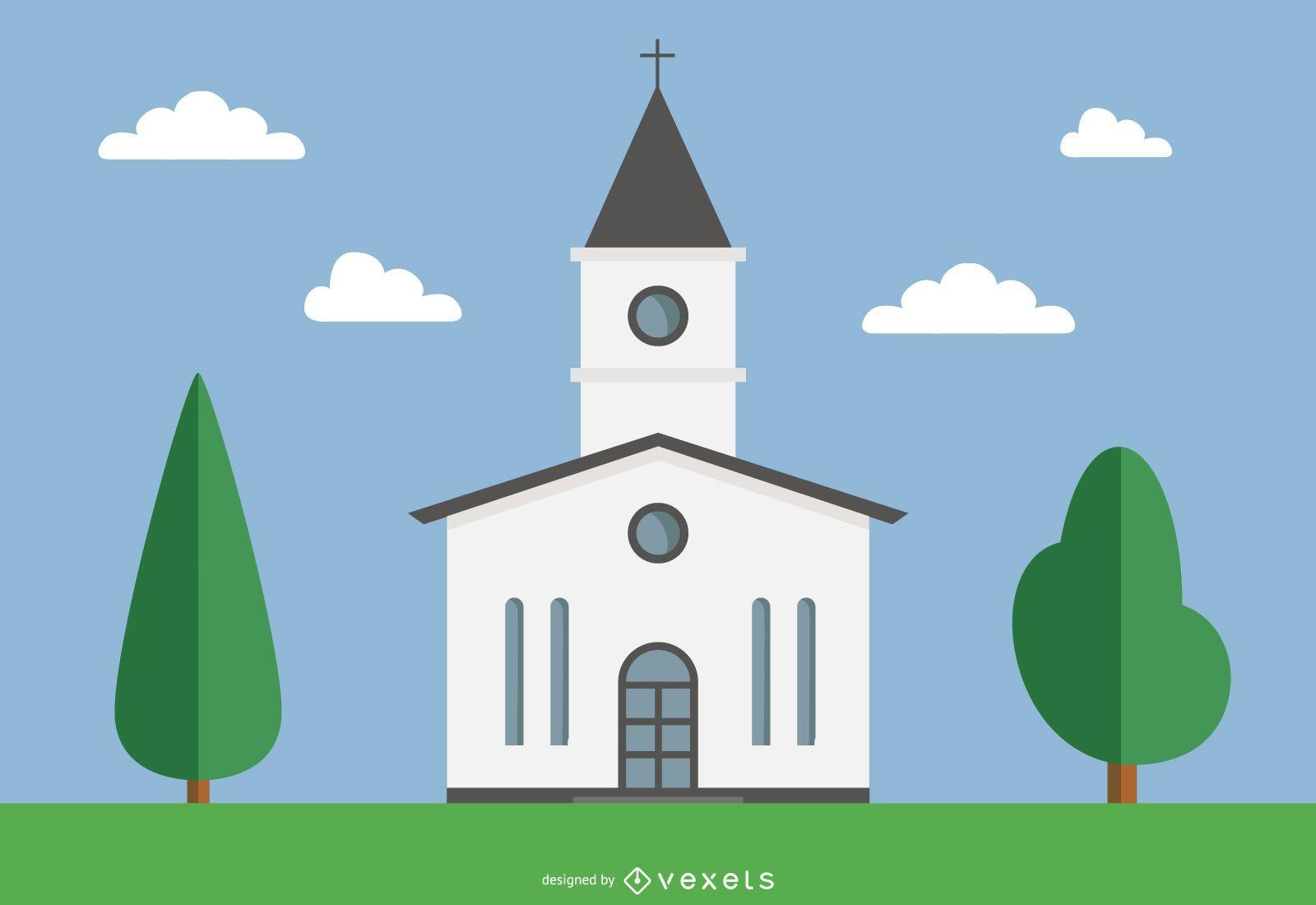 Funky Minimal Village Church
