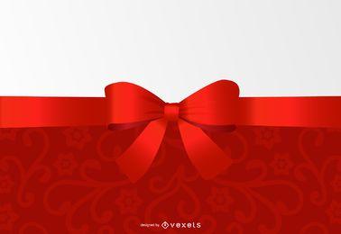 Design de convite floral de cabeçalho de fita