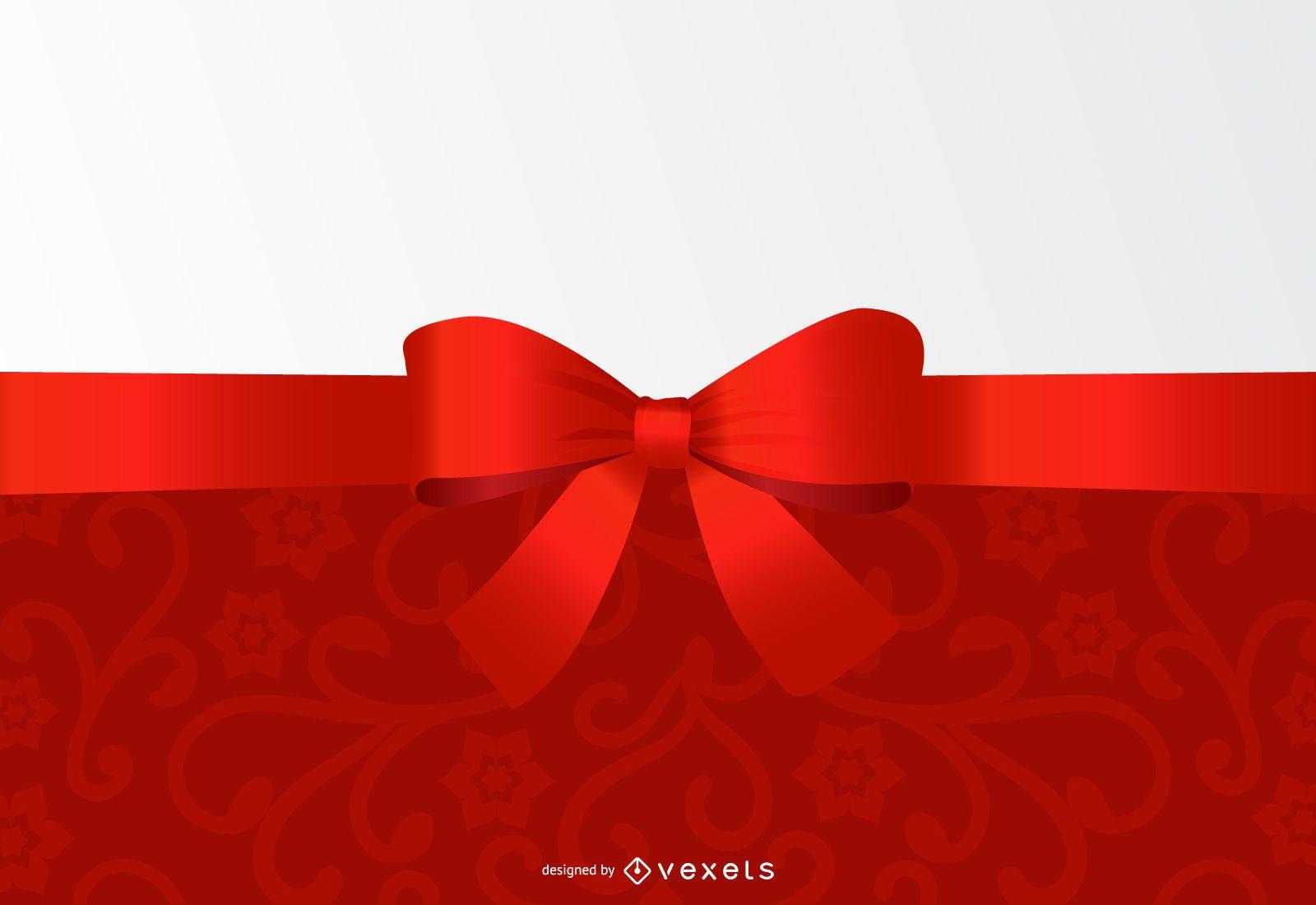 Ribbon Header Floral Invitation Design