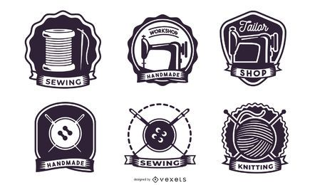 Retro Knitting Label Pack