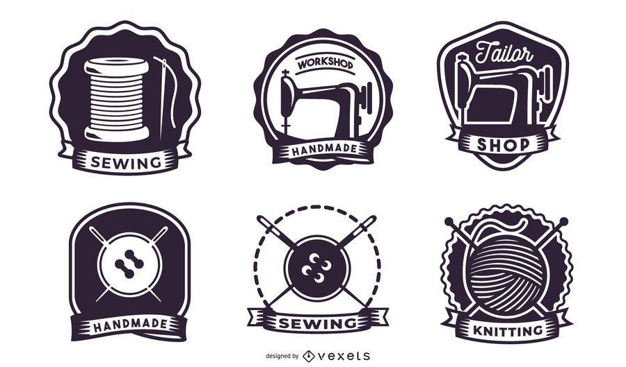 Retro Knitting Label Pack