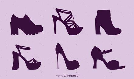 Paquete de zapatos de mujer siluetas