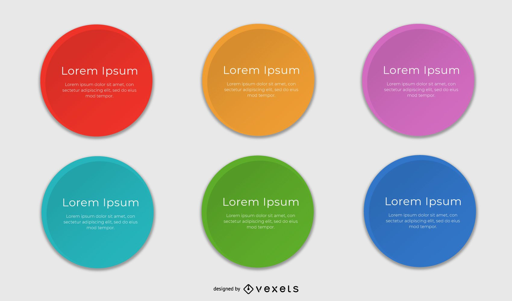 Multicolored Rounded Text Boxes