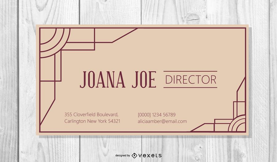 Classy Vintage Corporate Business Card