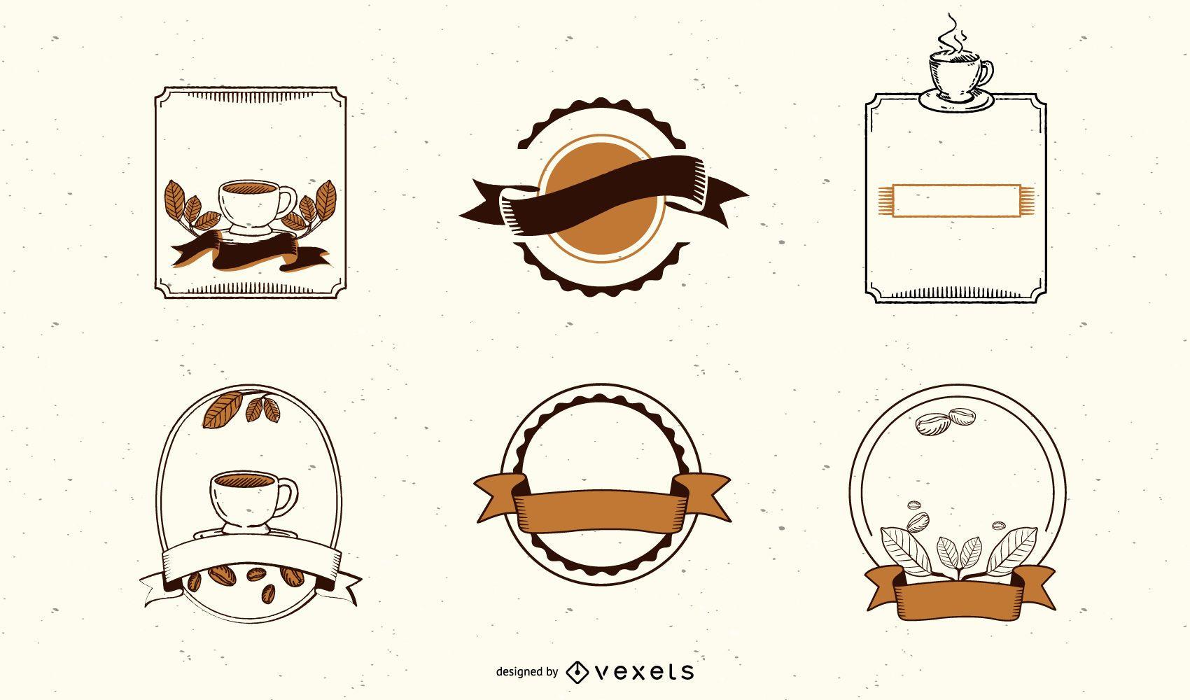 Kaffeeetikett & Tag Set