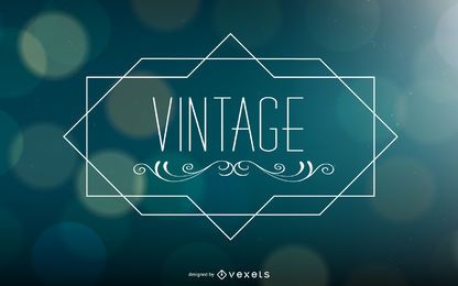 Vintage Ornamented Text Bokeh Background