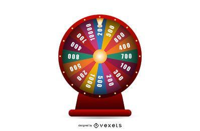 Glänzendes Casino-Roulette mit Würfeln