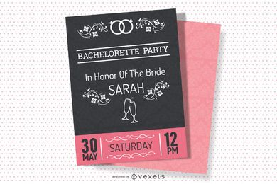 Bachelorette Vintage Party Invitation Design