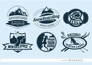 6 emblemas de esportes radicais