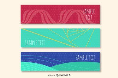 3 banners de cabeçalho de criativo