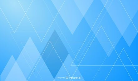 Abstract Fluorescent Triangles Blue Background