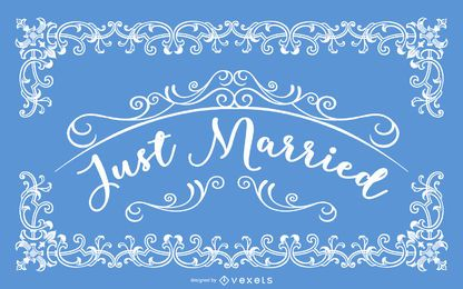 Just Married Decorative Vintage Card