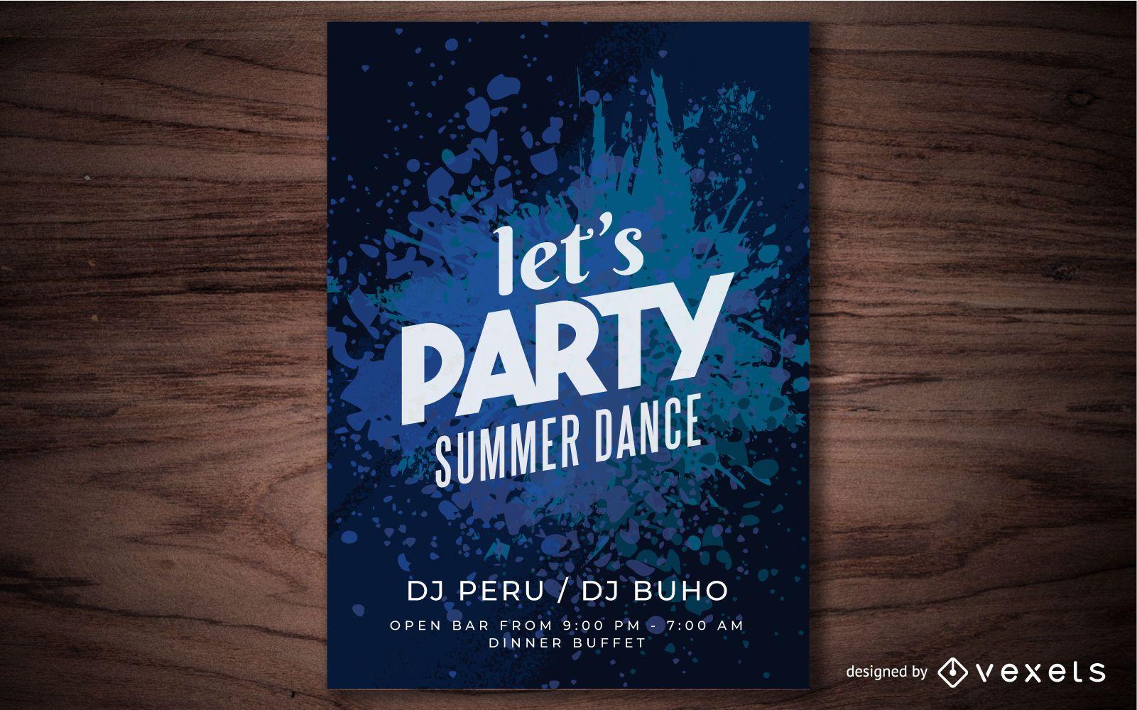 Summer Fest Colorful Splashed Poster