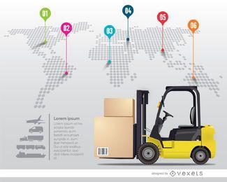 Infografía de entrega internacional.