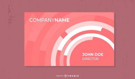 Cartão de visita cor-de-rosa dos círculos brancos