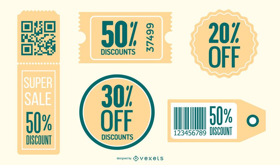 Retro Style Discount Coupon Pack
