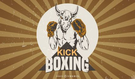 Sketchy Vintage Boxing Poster