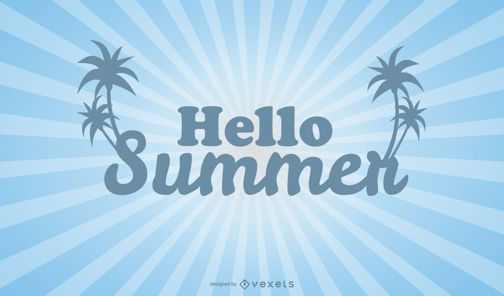 Plantilla de póster brillante Hola verano