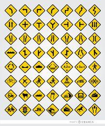 Conjunto de 56 señales viales