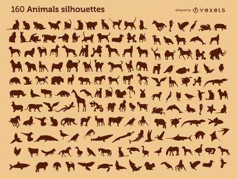 160 silhuetas de animais