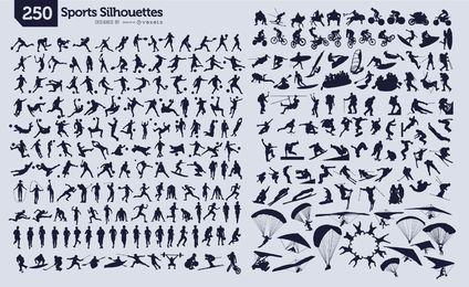 250 siluetas de deporte