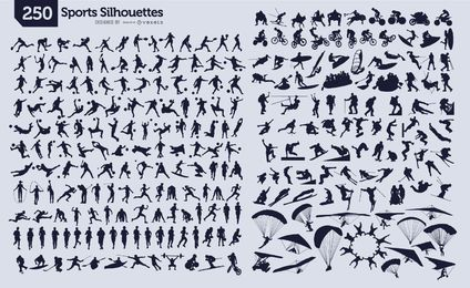 250 sportliche Silhouetten
