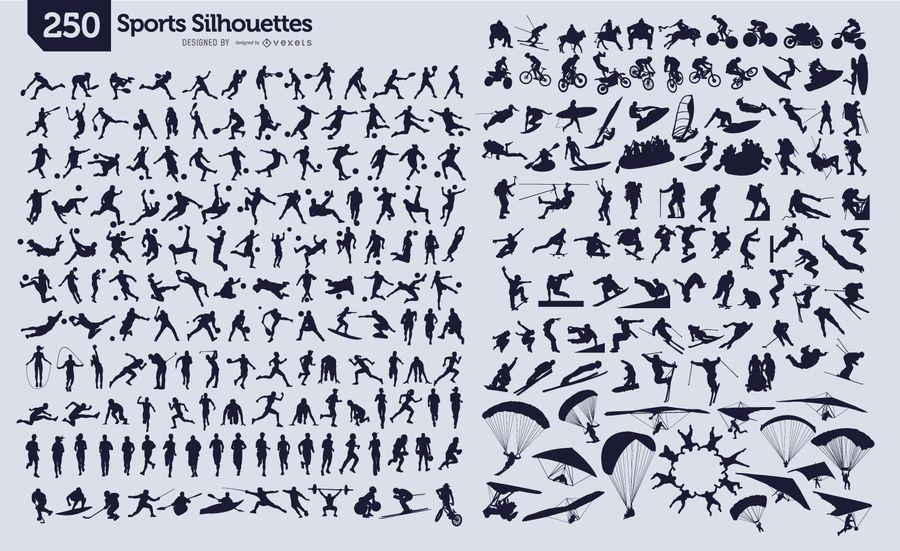 250 silhuetas de esporte