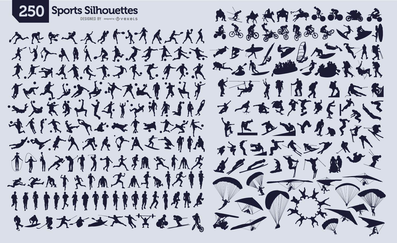 250 siluetas deportivas
