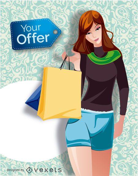 Shopping girl promo