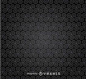 Dunkle Spiralen Muster Hintergrund