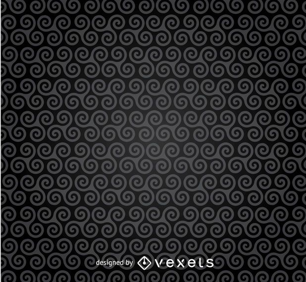 Dark spirals pattern background