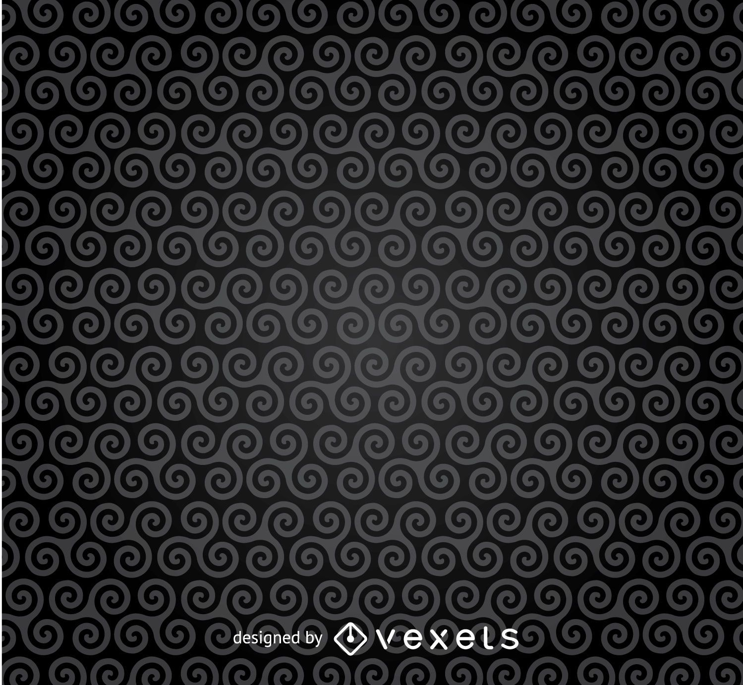 Dark spirals pattern background