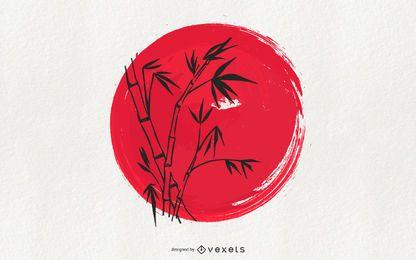 Japanische Tradition Sumi-e Art