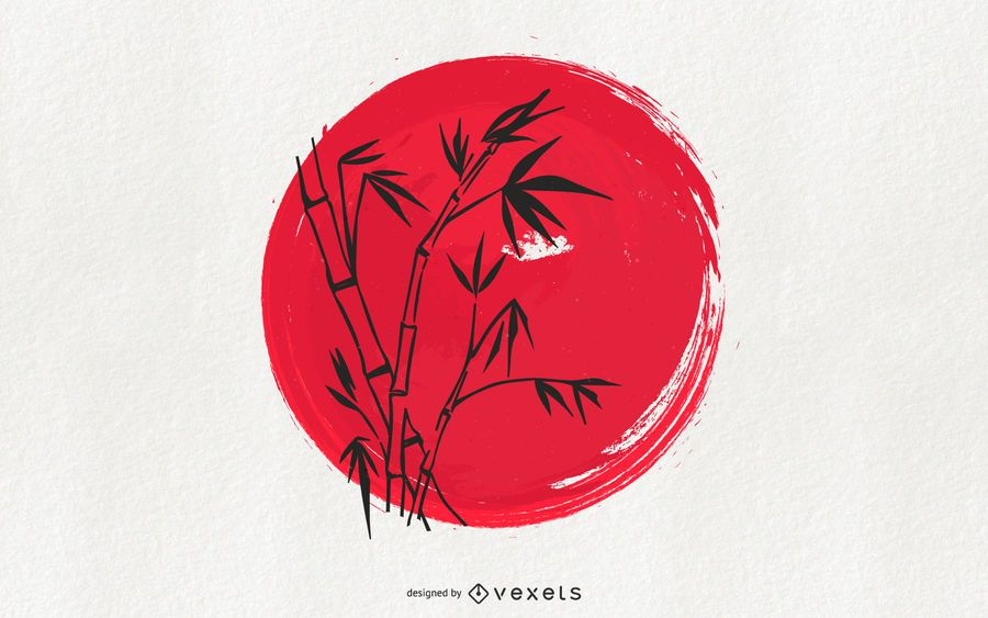 Tradición japonesa Sumi-e Art