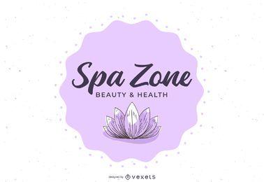 Banner Floral do centro de bem-estar Spa