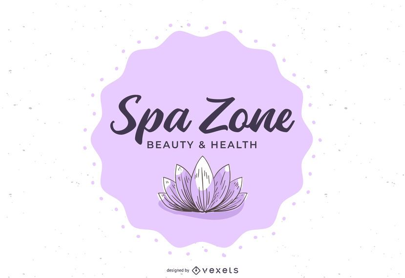 Spa Wellness Center Floral Banner