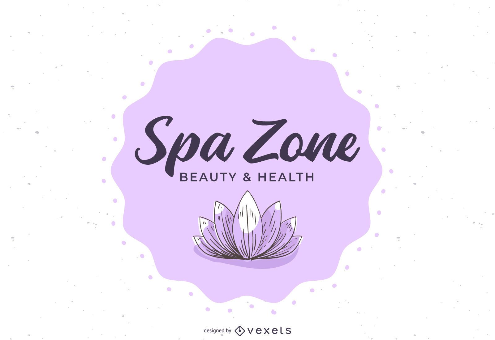 Banner floral del centro de bienestar spa