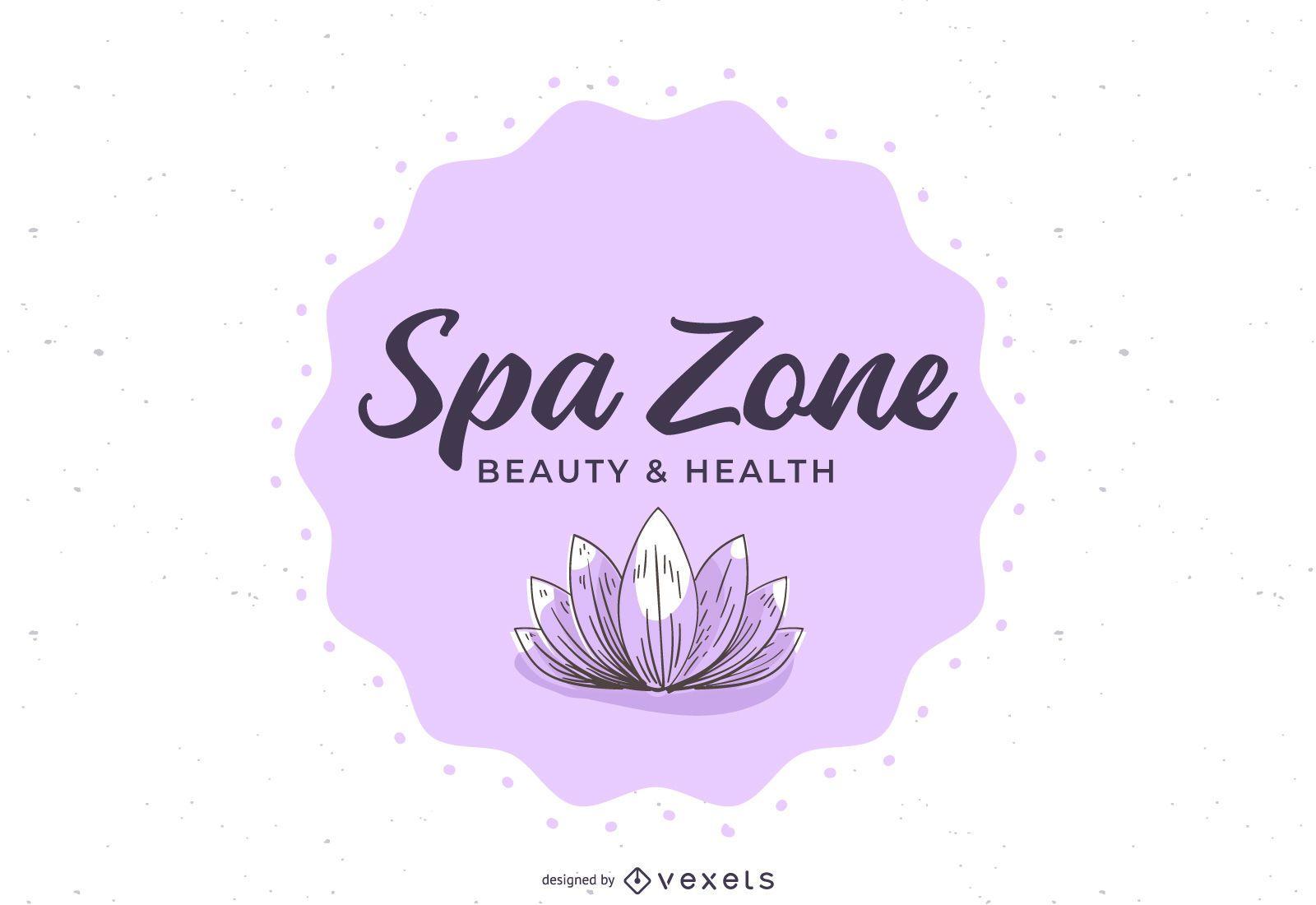 Spa Wellness Center Floral Banner