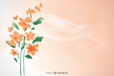 Abstrakter einfacher spielerischer Blumen-Hintergrund
