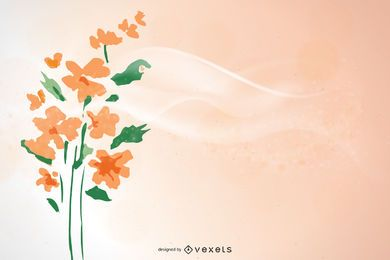 Simple Floral Peach Background Design