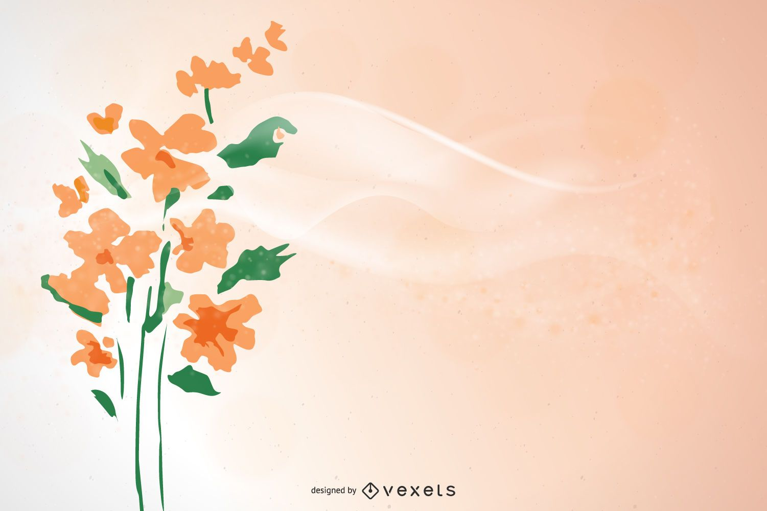 simple floral peach background design vector download simple floral peach background design