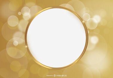 Fundo brilhante de círculo de espaço