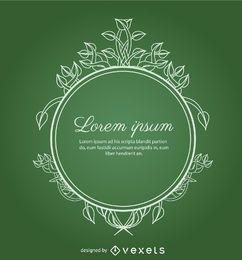 Círculo adorno hojas verde