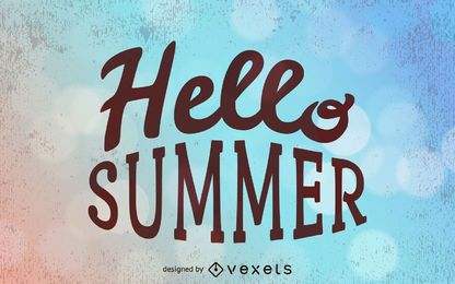 Grungy Sommer-Typografie-Hintergrund