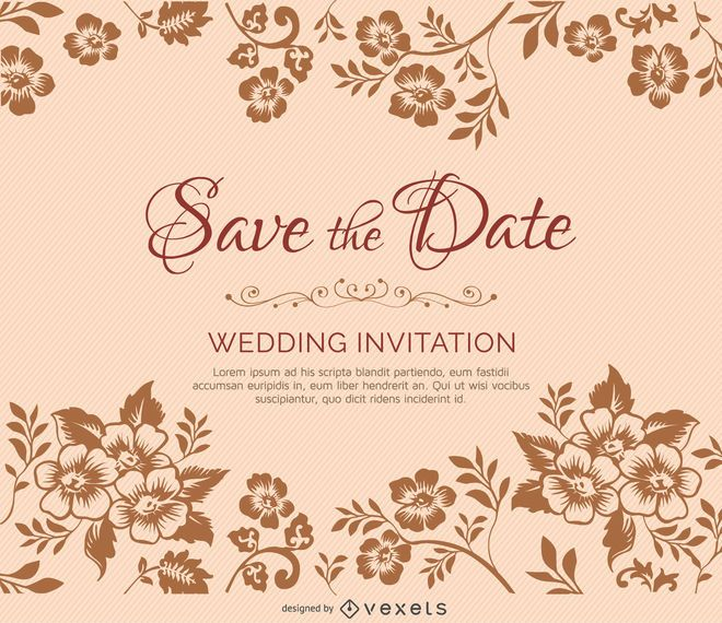 Flower branches marriage invitation vector download flower branches marriage invitation stopboris Gallery