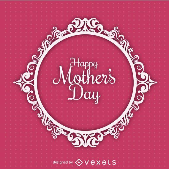 Cartão de dia das mães círculo ornament