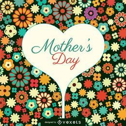 Muttertag Blumenkarte